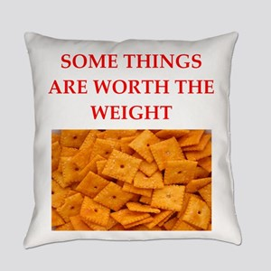 cheese crackers Everyday Pillow