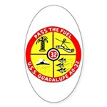 USS Guadalupe (AO 32) Oval Sticker