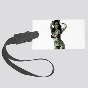 bloody zombie girl Large Luggage Tag