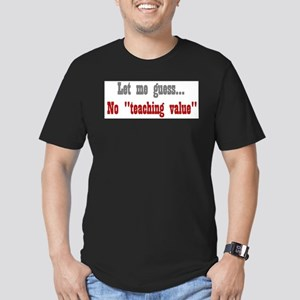 No Teaching Value Ash Grey T-Shirt