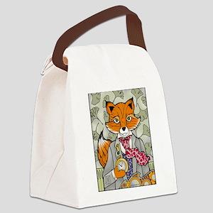 The Dapper Mr. Fox Canvas Lunch Bag