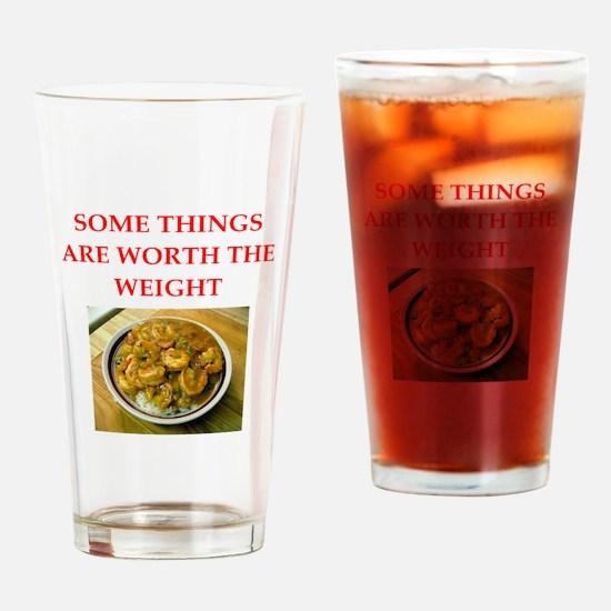 shrimp gumbo Drinking Glass