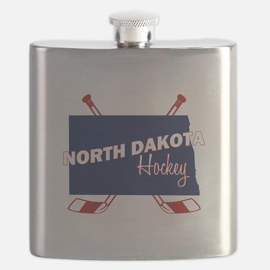 North Dakota Hockey Flask