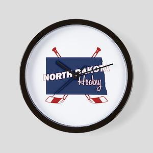 North Dakota Hockey Wall Clock