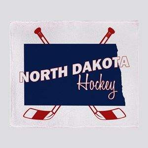 North Dakota Hockey Throw Blanket