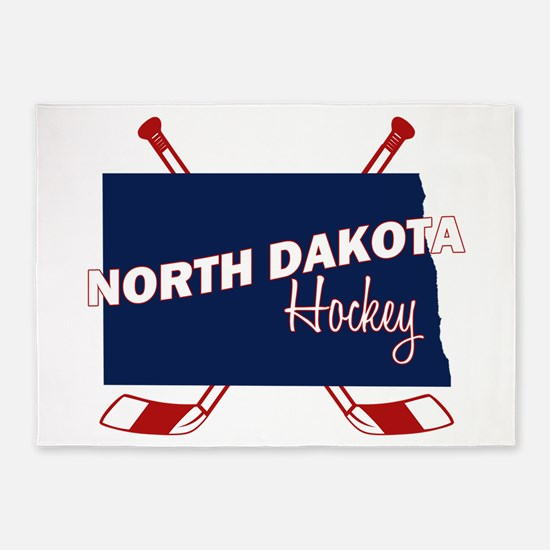 North Dakota Hockey 5'x7'Area Rug