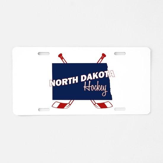 North Dakota Hockey Aluminum License Plate