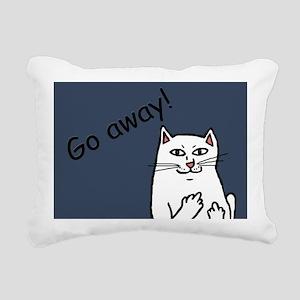 Naughty Cat Rectangular Canvas Pillow