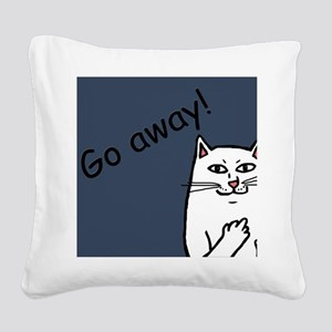 Naughty Cat Square Canvas Pillow