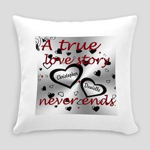 True Love Story Everyday Pillow