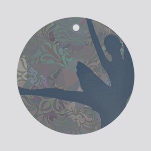 Ballerina Dancer Round Ornament