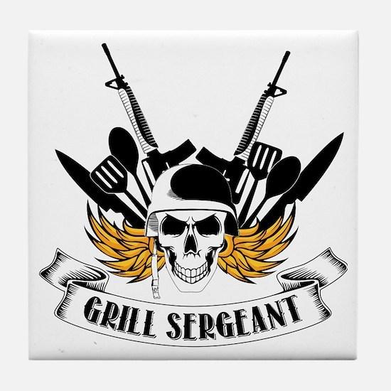 Grill Sergeant Tile Coaster