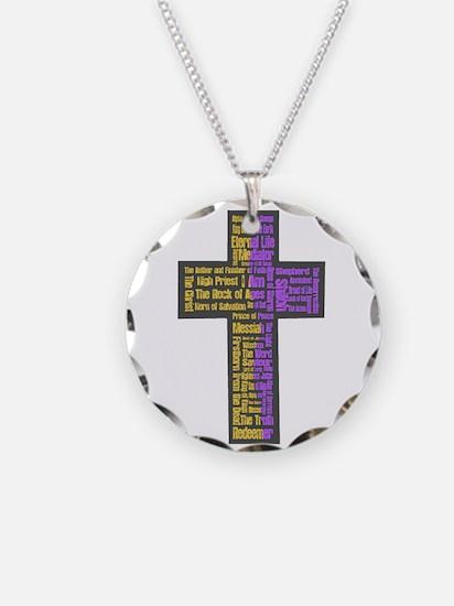 Names of Jesus Cross Necklace