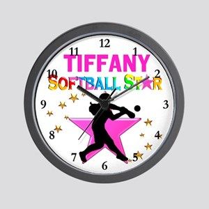 SOFTBALL STAR Wall Clock