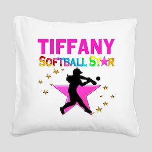 SOFTBALL STAR Square Canvas Pillow