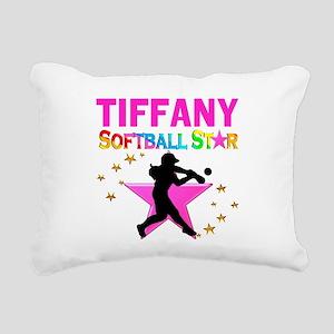 SOFTBALL STAR Rectangular Canvas Pillow