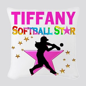 SOFTBALL STAR Woven Throw Pillow