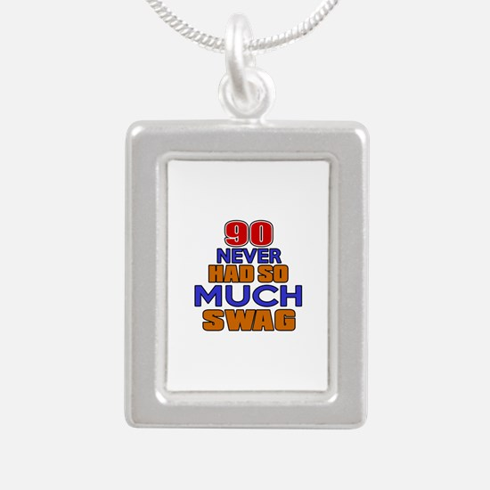 90 Never Had So Much Swa Silver Portrait Necklace