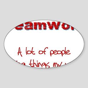 teamwrkred Sticker (Oval)