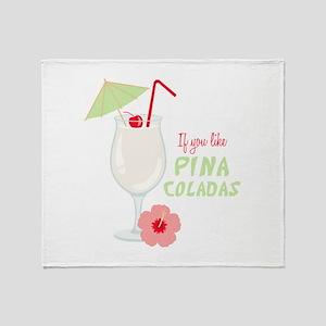 Pina Coladas Throw Blanket