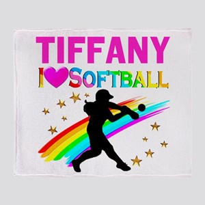 SOFTBALL STAR Throw Blanket