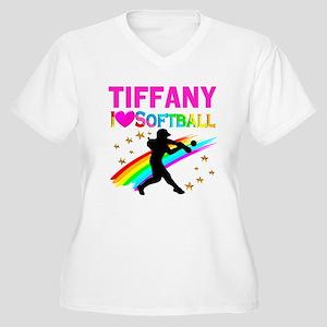 SOFTBALL STAR Women's Plus Size V-Neck T-Shirt