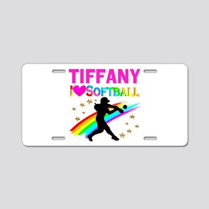 SOFTBALL STAR Aluminum License Plate