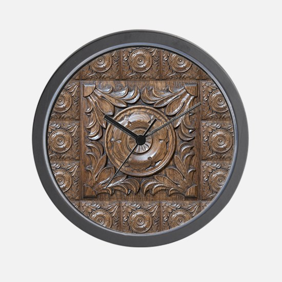 CARVED ROSETTE Wall Clock