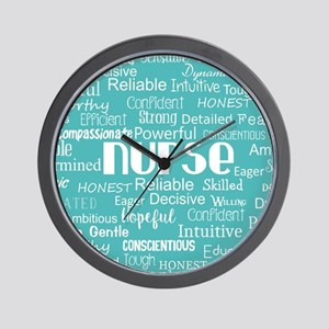 Nurse Adjectives Wall Clock
