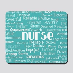 Nurse Adjectives Mousepad
