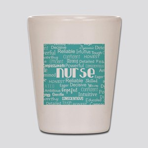 Nurse Adjectives Shot Glass