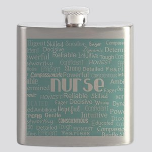 Nurse Adjectives Flask