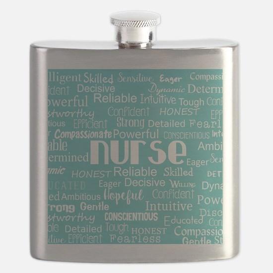 Nurse Adjectives Flask