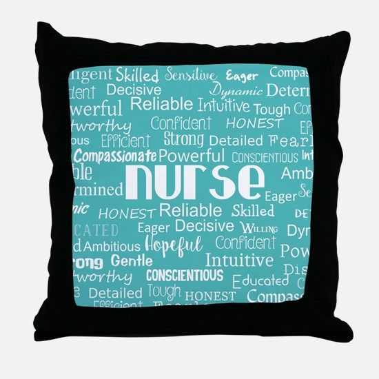 Nurse Adjectives Throw Pillow
