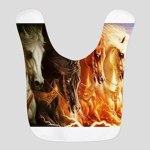 Abstract 3d Horses Bib