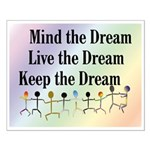 Live the Dream Small Poster