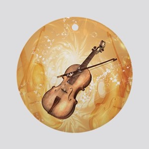 Awesome violin Round Ornament