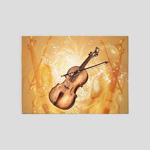 Awesome violin 5'x7'Area Rug