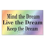 Live the Dream Rectangle Sticker