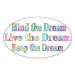 Live the Dream Oval Sticker