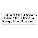 Live the Dream Bumper Sticker