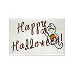 Happy Halloween Ghost Rectangle Magnet (10 pack)
