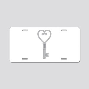 Heart Key Aluminum License Plate