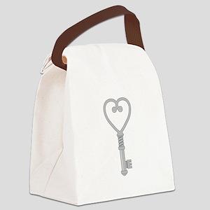 Heart Key Canvas Lunch Bag