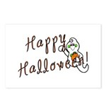 Happy Halloween Ghost Postcards (Package of 8)
