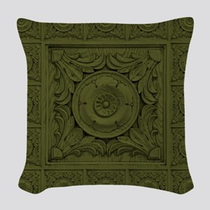 CARVED ROSETTE Woven Throw Pillow
