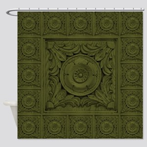 CARVED ROSETTE Shower Curtain