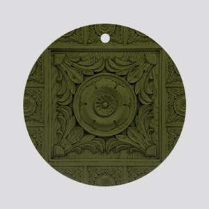 CARVED ROSETTE Round Ornament