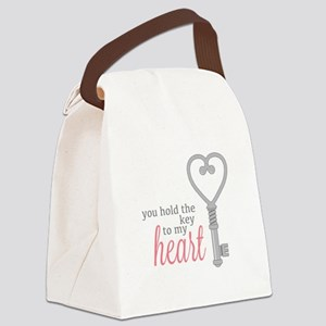 Key To Heart Canvas Lunch Bag