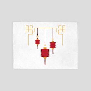 Chinese Lanterns 5'x7'Area Rug